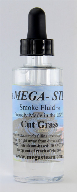 JT's Mega Steam O/HO CUTGRASS Smoke Fluid 2 Oz. Bottle, Cut Grass