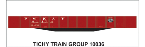 Tichy Train Group N 10036N Pittsburgh McKeesport and Youghiogheny USRA Decal Set for 46' Gondola