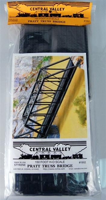 Central Valley Model Works HO 1902 150' Pratt Truss Bridge Kit