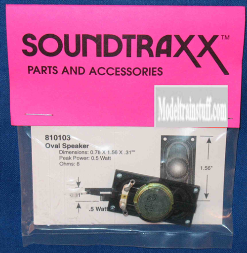 "SoundTraxx 810103 40mm x 20mm x 8mm(D) (1.5748""x 0.787402"" x 0.314961"") Oval Speaker"