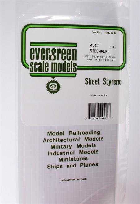 """Evergreen Scale Models 4517 Sidewalk 3/8"""""""