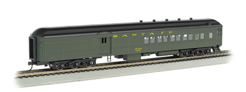 Bachmann Silver Series HO 13603 72' Heavyweight Combine Car with 2-Window Door and LED Lighted Interior, Santa Fe #1524