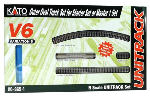 Kato N 20865-1 Unitrack Outer Oval Track Set Variation 6 for Starter Set or Master Set