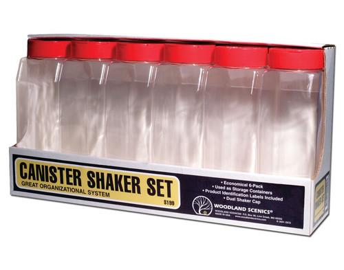 Woodland Scenics S199 Canister Shaker Set (6)
