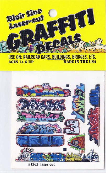 Blair Line N 1263 Graffiti Decals Mega Set #14