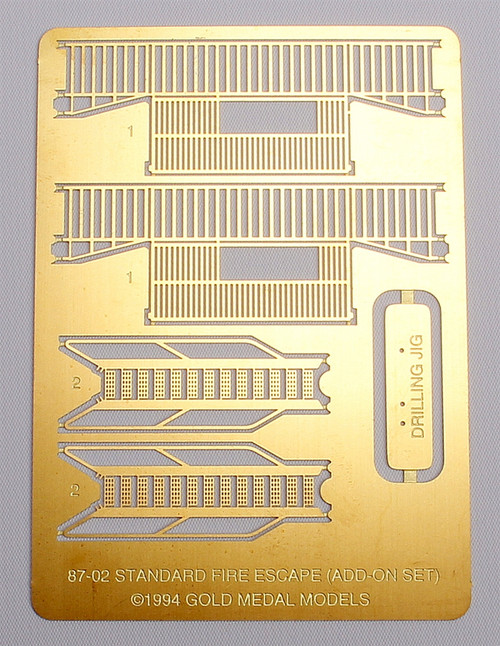 Gold Medal Models HO 87-02 Standard Fire Escape Add-On Set