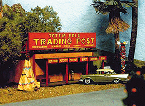 Blair Line HO 170 Roadside Tourist Trap Kit (Four Optional Signs)