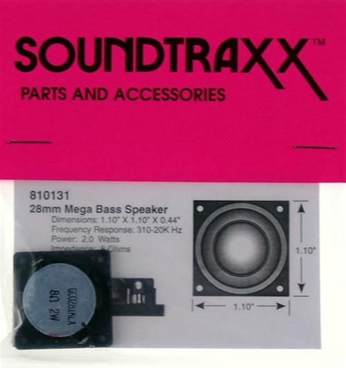 """SoundTraxx 810131 28mm x 28mm x 11.2mm(D) (1.10236"""" x 1.10236"""") Square Mega Bass Speaker"""