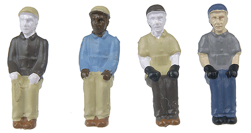 Broadway Limited Imports HO 1007 Sitting Engineer and Fireman Figure Set (4)