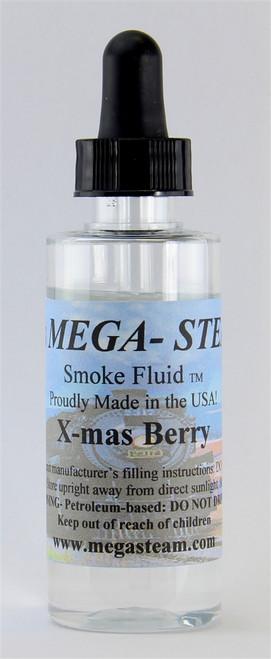JT's Mega Steam O/HO XMASBERRY Smoke Fluid 2 Oz. Bottle, X-Mas Berry