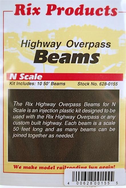 Rix Products N 628-0155 50' Highway Beams (10)