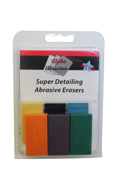 Alpha Precision Abrasives 6405 Super Detailing Abrasive Erasers