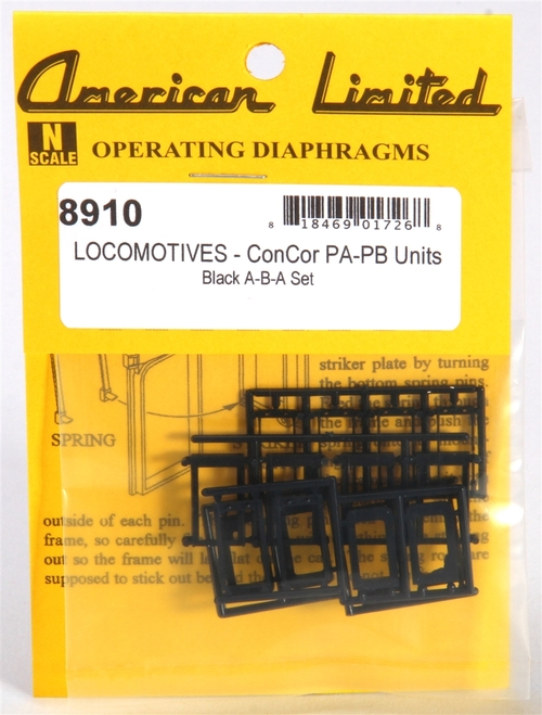 American Limited N 8910 Operating Diaphragms for Con-Cor PA and PB Units, Black (Enough for an A-B-A set)