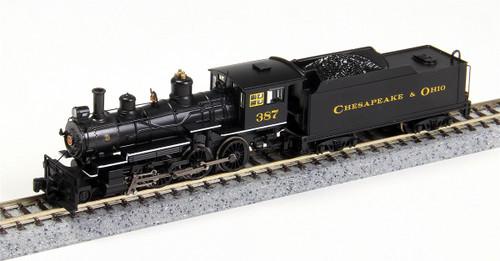 Bachmann N 51460 Baldwin 4-6-0 Steam Locomotive, Chesapeake and Ohio #387 (DCC Equipped)