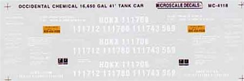 Microscale N 60-4118 Occidental Chemical, 16,000 Gallon 41' Tank Car (1994+) (d)