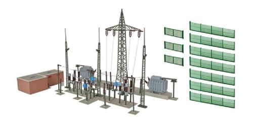 Kibri HO 39840 Baden-Baden Electrical Substation Kit with Lights