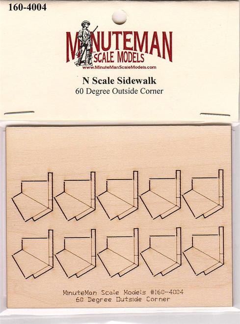 Minuteman Scale Models N 160-4004 Sidewalk, 60 Degree Outside Corner (d)