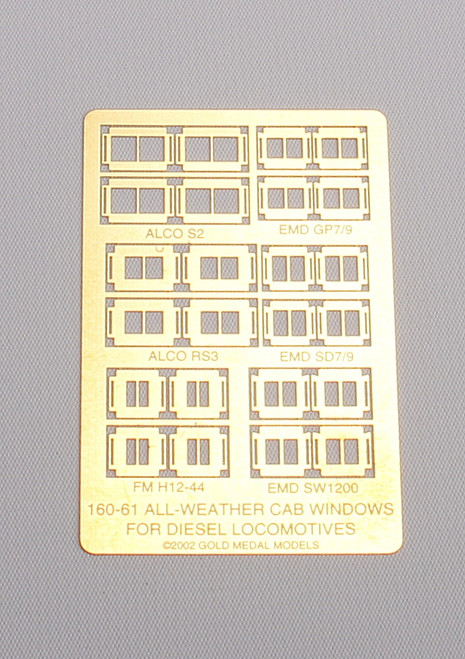 Gold Medal Models N 160-61 All-Weather Diesel Cab Windows