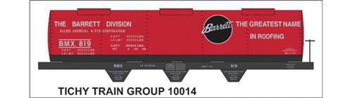 Tichy Train Group HO 10014 Barrett September 2013 RMC Decal Set for Tank Car