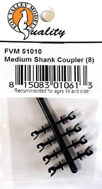 Fox Valley Models N 51010 Medium Shank Couplers (8)