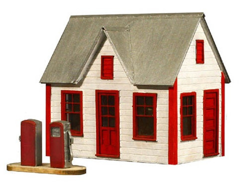 American Model Builders HO 797 Gas Station Kit with Pumps
