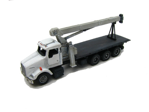 Showcase Miniatures N 65 Kenworth Tri-Axle Kit with 33-Ton Capacity Boom Crane