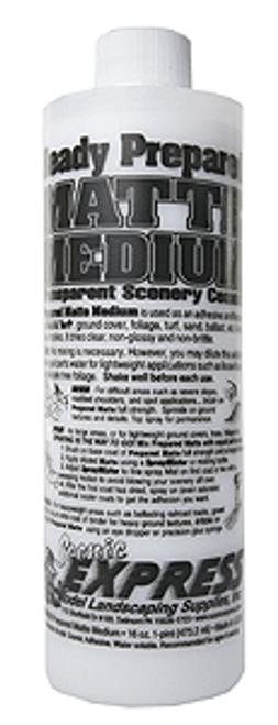 Scenic Express EX0010 Prepared Matte Medium Transparent Scenic Cement, 16 oz. Bottle