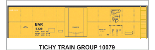 Tichy Train Group N 10079 Bangor and Aroostook Class RS Modern Decal Set for 40' Steel Reefer Car (d)