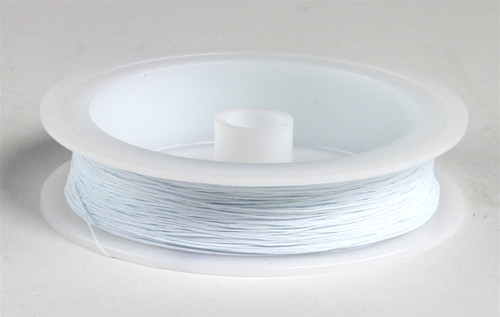 """Berkshire Junction EZ Line HO/N Elastic Polymer Simulated Telephone and Electric Line, Fine .010"""" Diameter x 100' Long, White"""