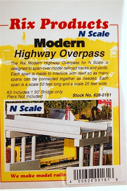 Rix Products N 628-0161 Modern 50' Highway Overpass