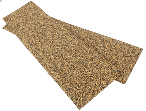 Itty Bitty Lines N 1349 Multi-Track Precut Cork Yard Pads with Beveled Edges (2-Pack)