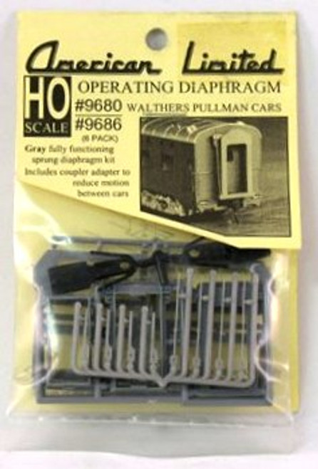 American Limited HO 9680 Operating Diaphragm for Walthers Pullman Cars (1 Pair)