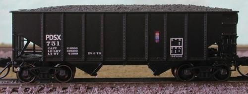 Bluford Shops N 65052 8-Panel 2-Bay Hoppers, Penn-Dixie Cement (2-Pack)