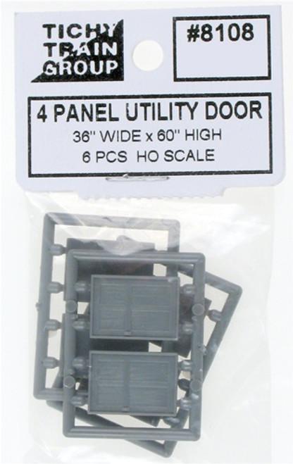 Tichy Train Group HO 8108 4-Panel Utility Door (6)
