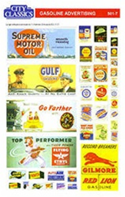 City Classics HO 501-7 Gasoline Advertising