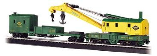 Bachmann Silver Series HO 16110 250-Ton Steam Crane Car with Boom Tender