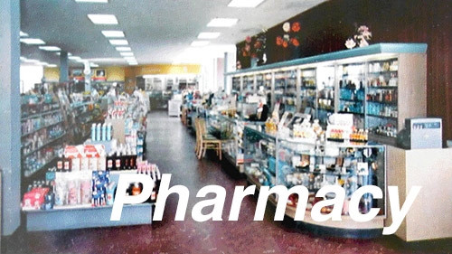 City Classics HO 1402 Picture Windows Pharmacy Interior
