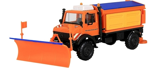 Kibri HO 15012 Unimog Plow with Salt Spreader Kit