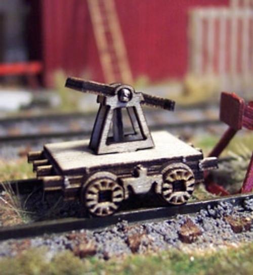 Osborn Model Kits HO 1107 Railroad Hand Car Static Display Kit (2)