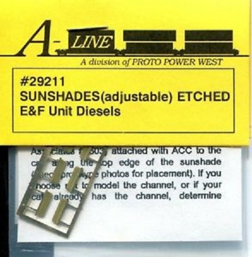 A-Line HO 29211 Adjustable Sunshades for EMD E and F Diesels