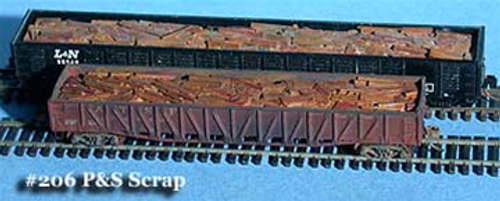 Fine N Scale 206 Plate and Structural Scrap Load for Gondolas up to 65' (3)