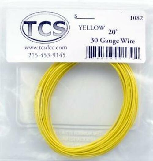 Train Control Systems 1082 30-Gauge Wire, 20' Roll (Yellow)