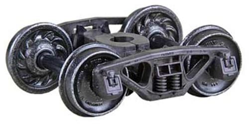 "Kadee HO 565 50-Ton Bettendorf Self-Centering Trucks with 33"" Ribbed Back Wheels"