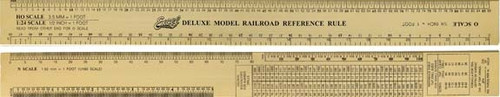"Excel 55778 12-1/2"" Gold Deluxe Model Railroad Refrence Ruler"