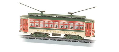 "Bachmann N 61085 Brill Trolley ""Happy Holidays"""