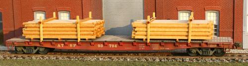 American Model Builders HO 289 Stacked Lumber Flat Car Load Kit