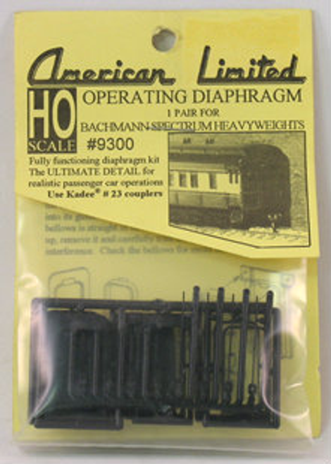 American Limited HO 9300 Operating Diaphragm for Bachmann Spectrum heavyweights (1 pair)