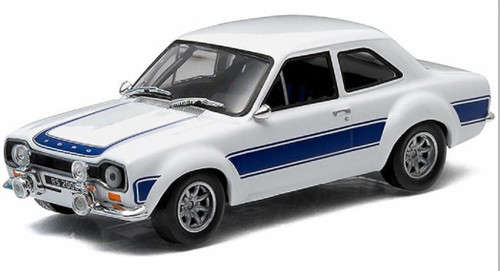 Greenlight Collectibles O 86065 1974 Ford Escort RS 2000, White/Blue