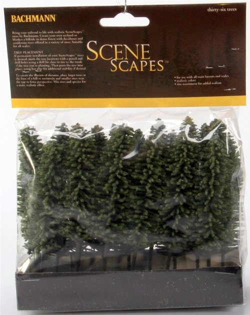 "Bachmann Scene Scapes 32160 4"" to  6"" Cedar Trees (24)"