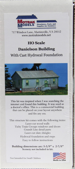 Motrak Models HO 83002 Danielson Building Kit (Stone Foundation) (d)